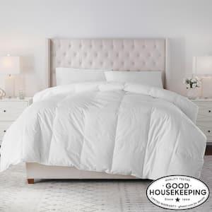 Lightweight Down White Cotton King Comforter