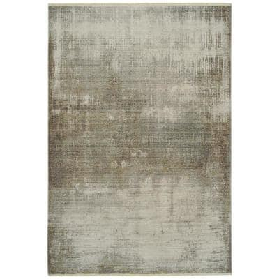 Scottsman Collection Silver 5 ft. 6 in. x 7 ft. 9 in. Rectangle Indoor/Outdoor Area Rug