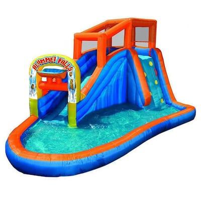 Plummet Falls Adventure Kids Inflatable Outdoor Water Park Pool Slide Bounce House