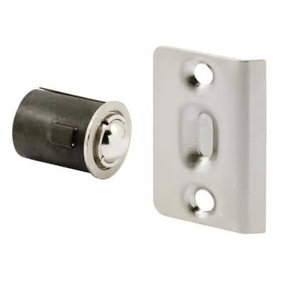 Satin Nickel Drive-In Ball Catch with Strike
