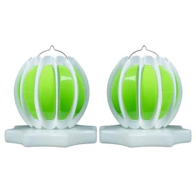 Floating Solar Swimming Pool Lantern - 2 Pack in Green