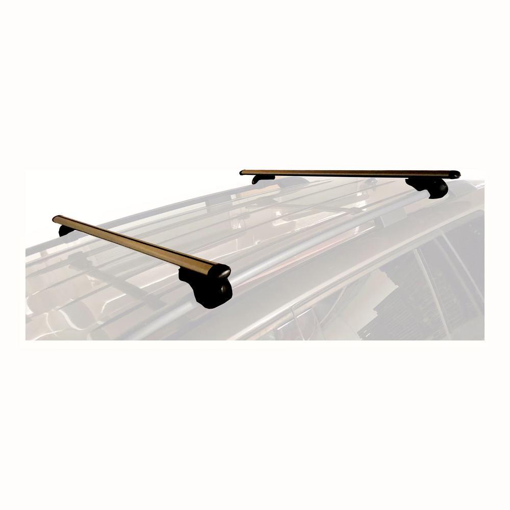 150 lbs. Capacity 52 in. Aluminum Roof Top Cross Bar Set - Pair