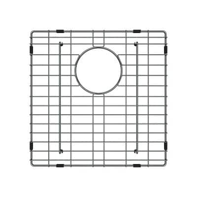 14-5/8 in. x 14-5/8 in. x 7/8 in. Stainless Steel Bottom Grid for Single Bowl 17 Kitchen Sink