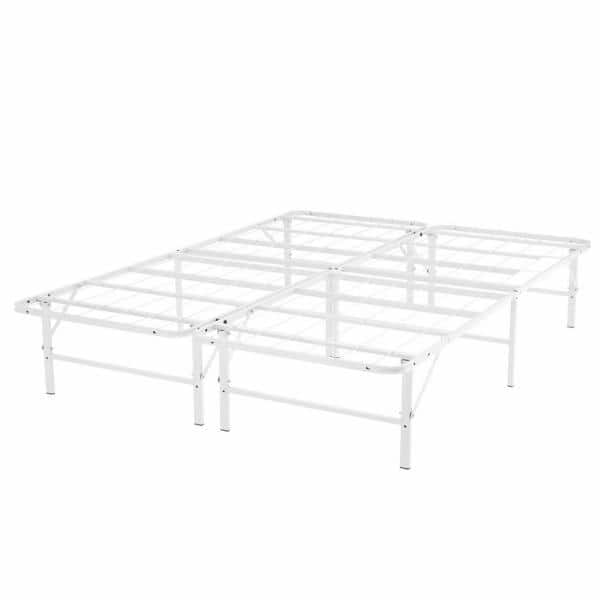 Naomi Home Idealbase White Queen, Heavy Duty Queen Bed Frame With Headboard