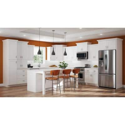 Vesper White Shaker Assembled Plywood 24 in. x 30 in. x 12 in. Wall Diagonal Corner Kitchen Cabinet with Soft Close