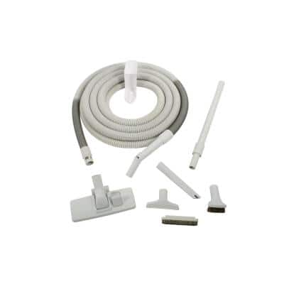 Gray Attachment Kit with 35 ft. Hose for Central Vacuums