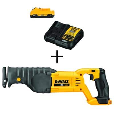 20-Volt MAX Cordless Reciprocating Saw with (1) 20-Volt Battery 3.0Ah & Charger