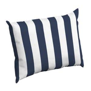 Sapphire Cabana Stripe Rectangle Outdoor Throw Pillow