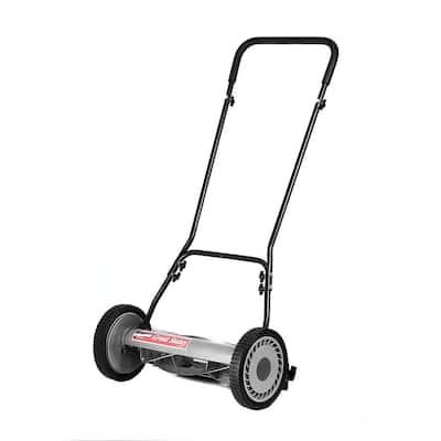 18 in. 5-Blade Manual Walk Behind Reel Lawn Mower