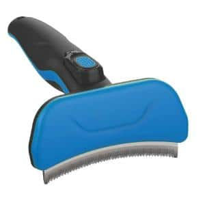 Fur-Guard Easy Self-Cleaning Grooming Deshedder Pet Comb Blue