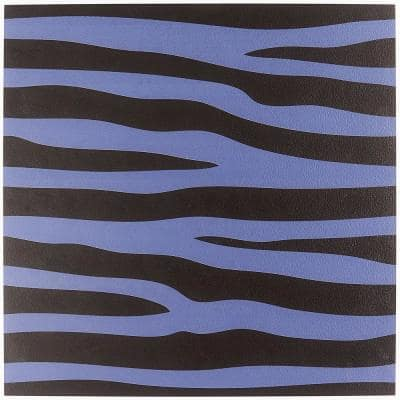 Kaa Zebra Purple 24 in. x 24 in. Matte Porcelain Floor and Wall Tile (3 Pieces/11.62 sq. ft./Case)