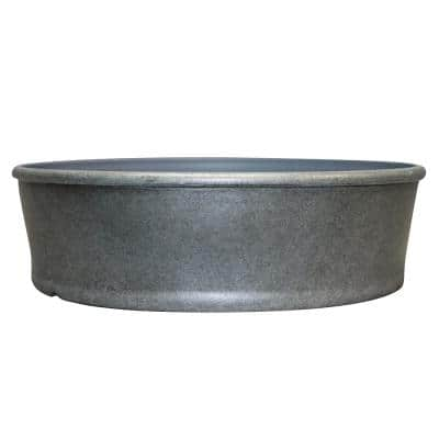 Rushmore 14 in. x 4 in. Gray High-Density Resin Dish