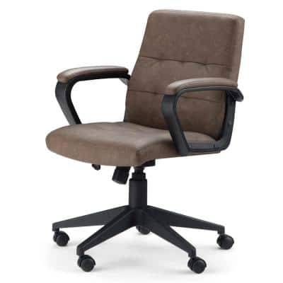 Brewer Distressed Brown Swivel Adjustable Executive Computer Office Chair