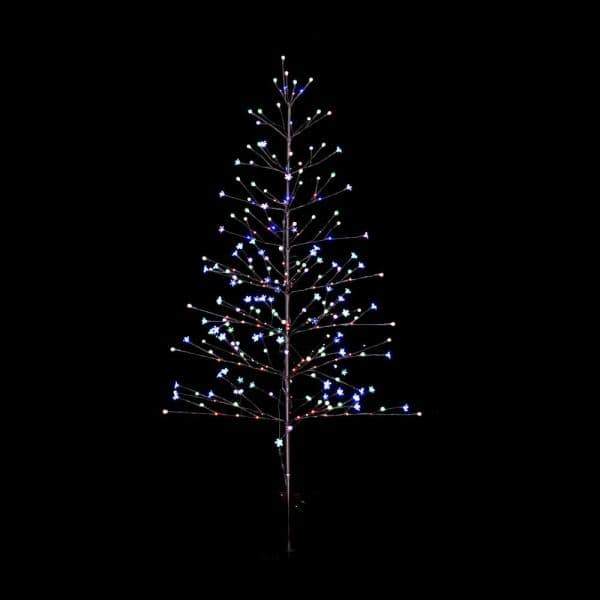 Aurio Lighting 7 Ft Pre Lit Led, Outdoor Lighted Trees Artificial