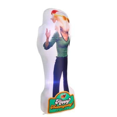 6 ft. Photorealistic Monica with Turkey On Her Head Warner Bros. Airblown Halloween Inflatable