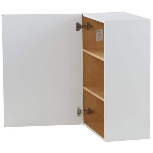 Hampton Bay Cambridge Shaker Assembled 21x30x12 In All Plywood Wall Cabinet With 1 Soft Close Door In White Cm2130w Wh The Home Depot