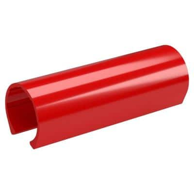 1-1/4 in. x 0.33 ft. Red PVC Pipe Clamp Material Snap Clamp (10-Pack)