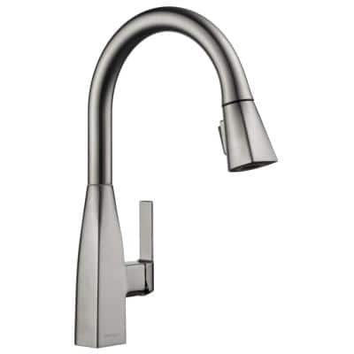 Xander Single-Handle Pull-Down Sprayer Kitchen Faucet in Stainless