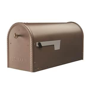 Edwards Large, Steel, Post Mount Mailbox, Venetian Bronze