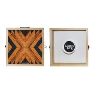 Country Living Reclaimed and Black Geometric Washer Toss Game