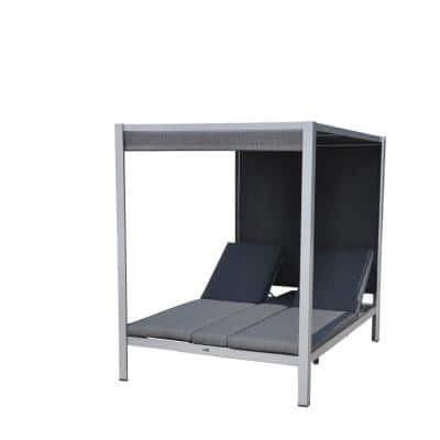 Idlewood Aluminum Outdoor Chaise Lounge with Grey Cushions