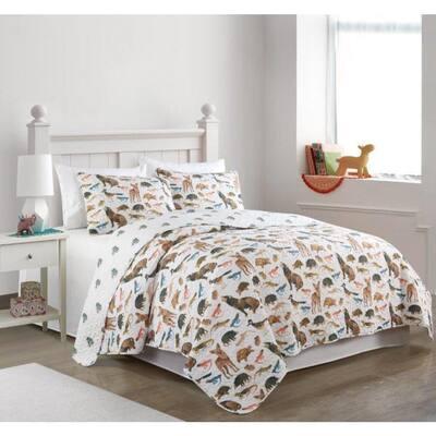 Desert Garden Multi Colored Reversible Super Soft Cotton Full/Queen Quilt Set