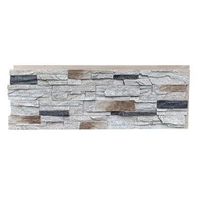 Country Ledgestone 43.5 in. x 15.5 in. Faux Stone Siding Panel in Dover White (4-Pack)