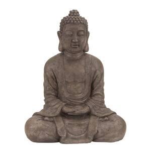 Brown Polystone Bohemian Buddha Sculpture