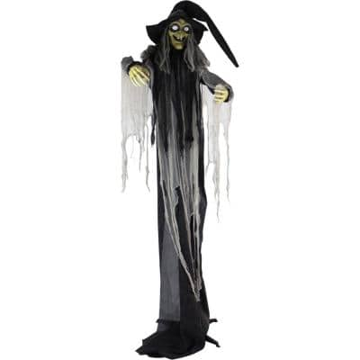 128 in. Touch Activated Animatronic Witch
