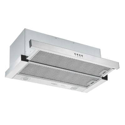 Forte 430 30 in. 425 CFM Ducted Built-In Range Hood with LED in Stainless Steel