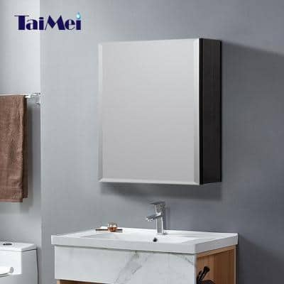 16 in. x 20 in. Frameless Recessed or Surface-Mount Beveled Single Mirror Bathroom Medicine Cabinet