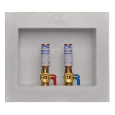 1/2 in. Push-to-Connect x 3/4 in. MHT Brass Washing Machine Outlet Box with Water Hammer Arrestors