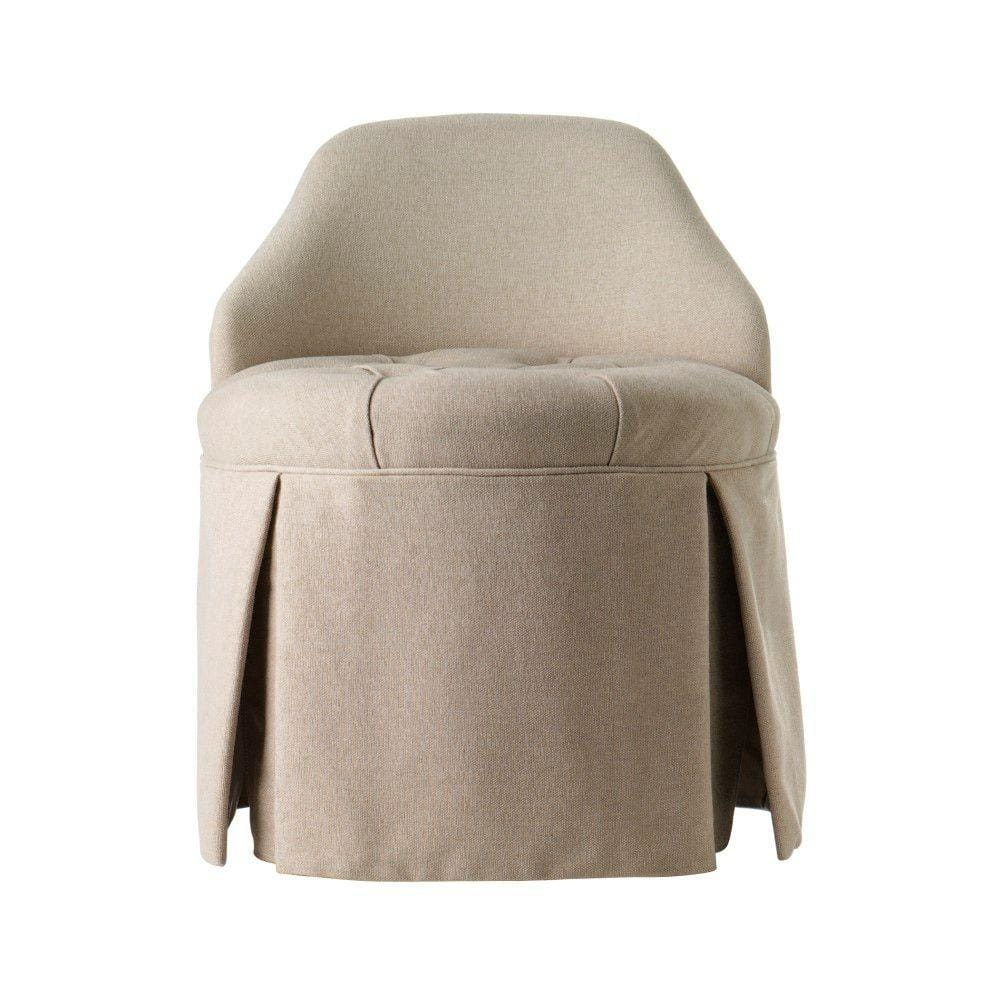 Home Decorators Collection Ella Natural Vanity Stool 1199200810 The Home Depot