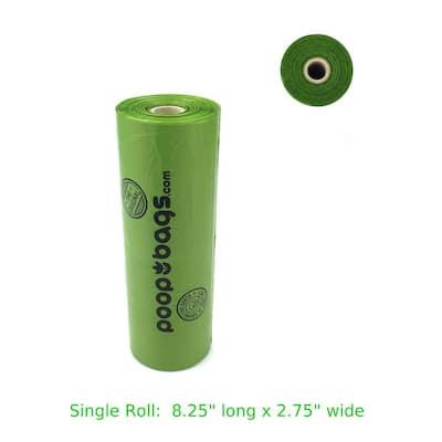 8 in. x 13 in. Bio-Based Bulk Dog Waste Bag Roll (300-Count)
