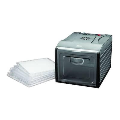 Professional 6-Tray Black Food Dehydrator with Drip Tray