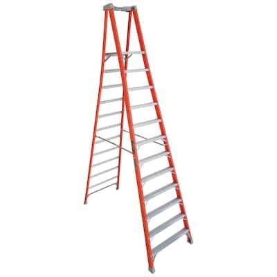 12 ft. Fiberglass Pinnacle Platform Ladder with 300 lbs. Load Capacity Type IA Duty Rating