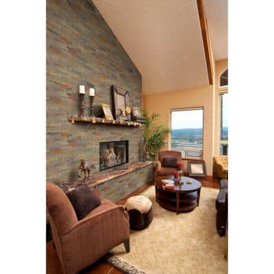 Gold Rush 6 in. x 12 in. Veneer Peel and Stick Natural Slate Wall Tile (0.5 sq. ft.)