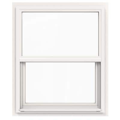 30 in. x 36 in. V-4500 Series White Single-Hung Vinyl Window with Fiberglass Mesh Screen