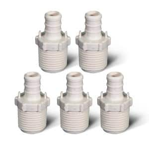1/2 in. Plastic PEX Poly Alloy Adapter PEX x MPT Barb Pipe Fitting (5-Pack)