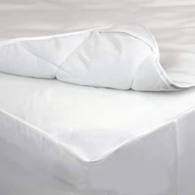 AllerEase Waterproof Protection Bedding Medium Deep Pocket Polyester Twin XL Mattress Pad
