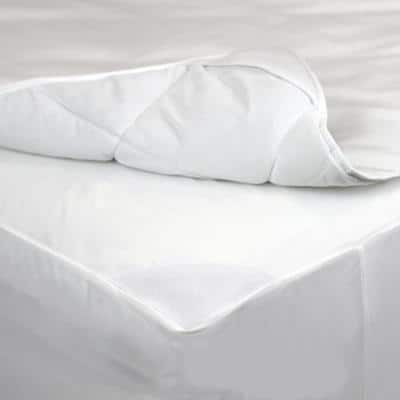 AllerEase Waterproof Protection Bedding Medium Deep Pocket Polyester King Mattress Pad