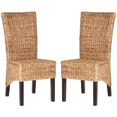 Kiska Natural Wood Side Chair (Set of 2)
