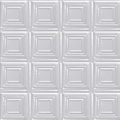 2 ft. x 4 ft. Nail Up Tin Ceiling Tile in Powder-Coated White (24 sq. ft./case)