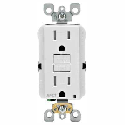 15 Amp Tamper Resistant AFCI Outlet, White (2-Pack)