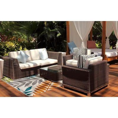 Patio Brights Blythewood Multi 5 ft. x 7 ft. 3 in. Indoor/Outdoor Area Rug
