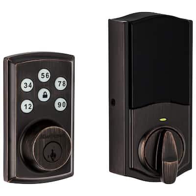 Z-Wave SmartCode 888 Venetian Bronze Single Cylinder Electronic Deadbolt Featuring SmartKey Security
