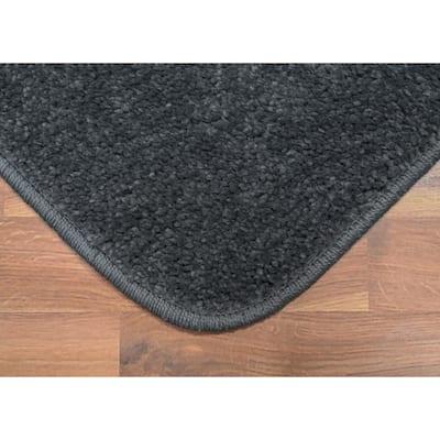 Gramercy Cinder Gray 20 in. x 34 in. Solid Polypropylene Bath Mat