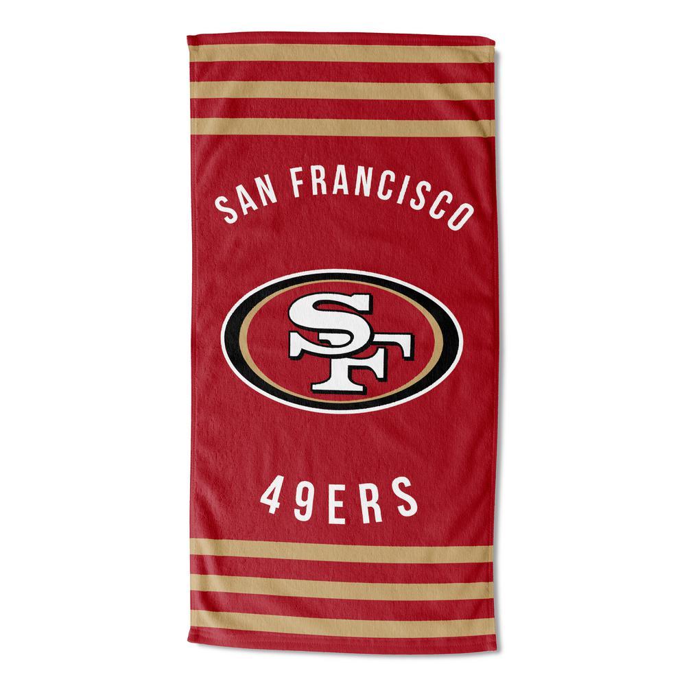 49ers Stripes Multi Colored Beach Towel