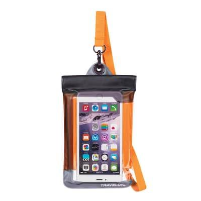 Orange Waterproof Smart Phone Pouch
