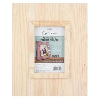 Project Craft Unfinished Wooden Photo Frame, 9.25 in. x 11.2 in.